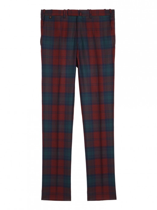 BZV3 IN PUR WOOL TARTAN CHECK