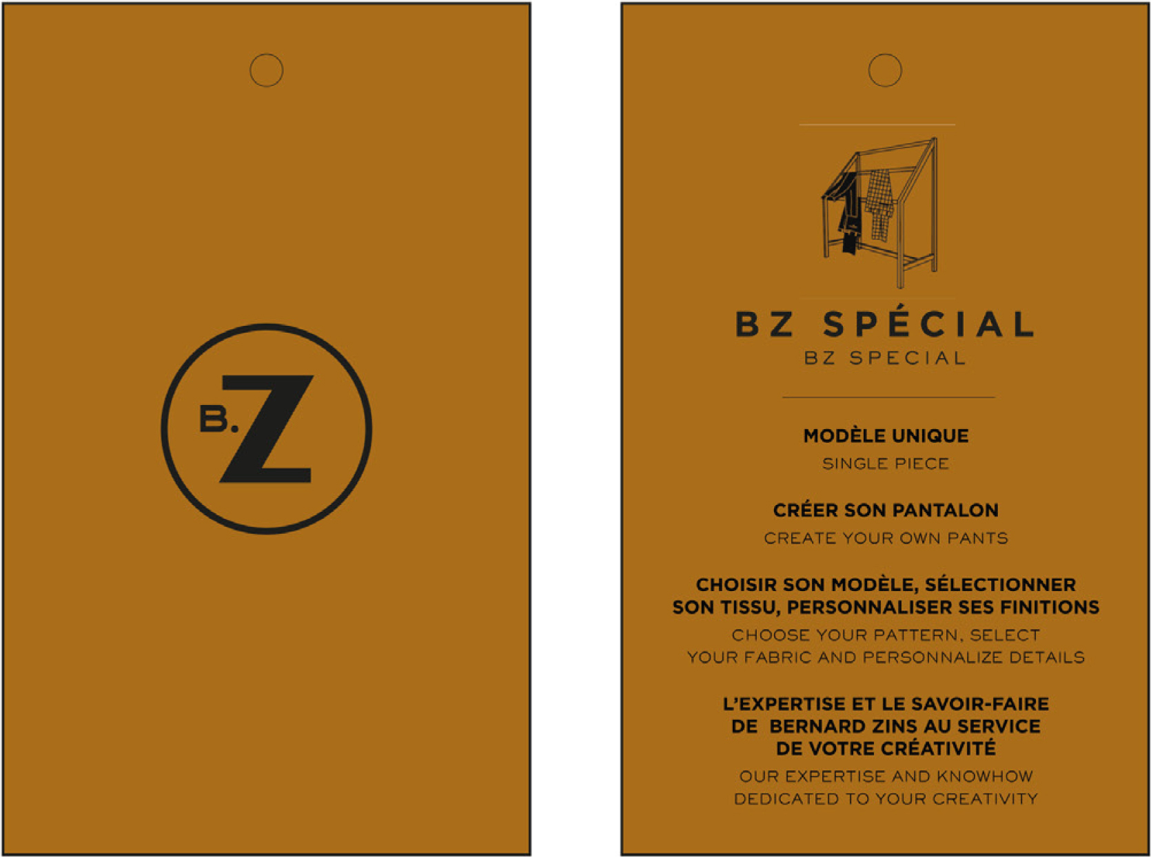 Maison Zins offers you a unique trousers made to order service