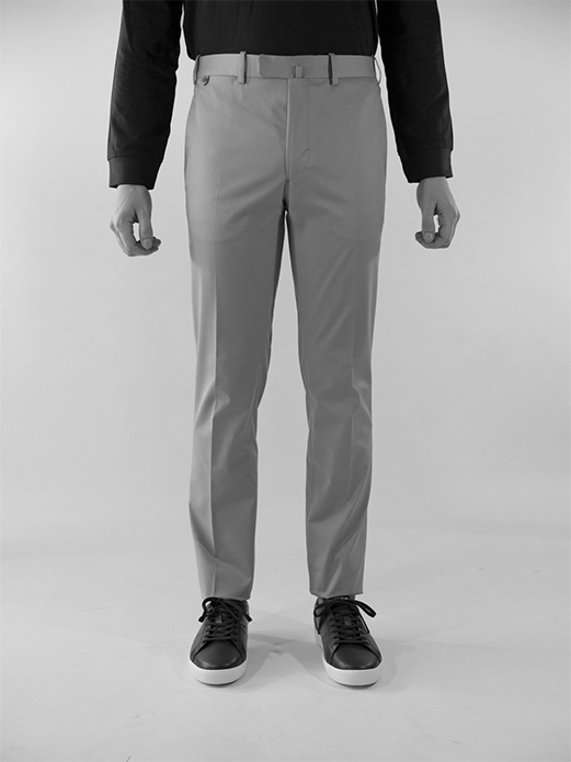 Bzv3 fitted pants in technical cotton gabardine