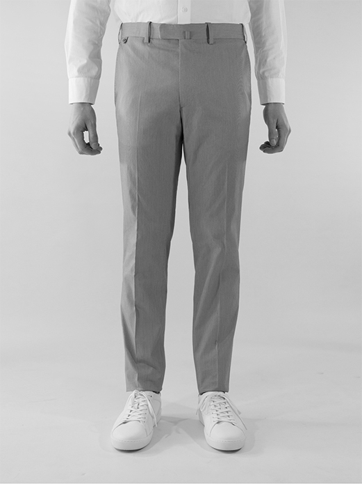 BZV3 fitted pants in stretch mini pinstripe